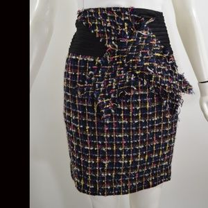 ANTHROPOLOGIE Tweed Boucle Short Skirt 0 XS